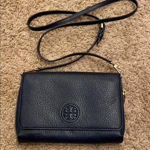 Navy Tory Burch wallet/crossbody